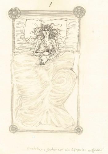 Gretchen im Bett